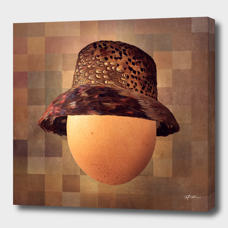 Vintage Egg in Pheasant Cloche