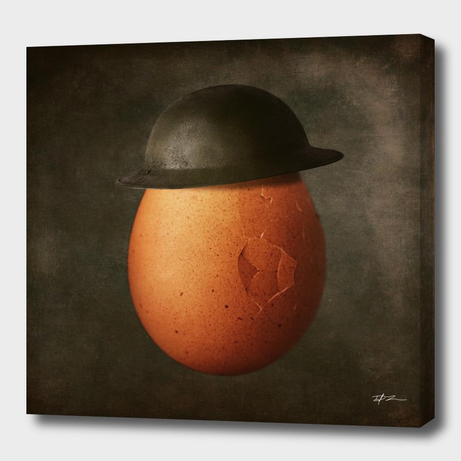 Vintage Egg in Brodie Helmet