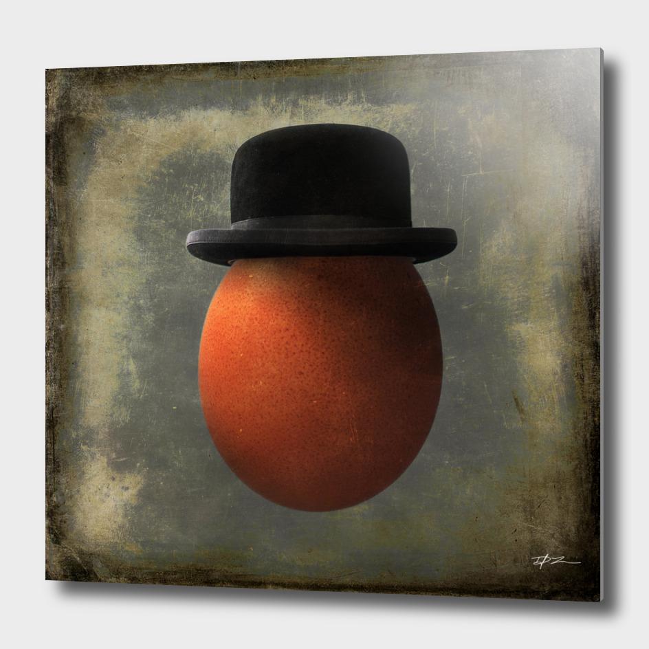 Vintage Egg in Bowler Hat
