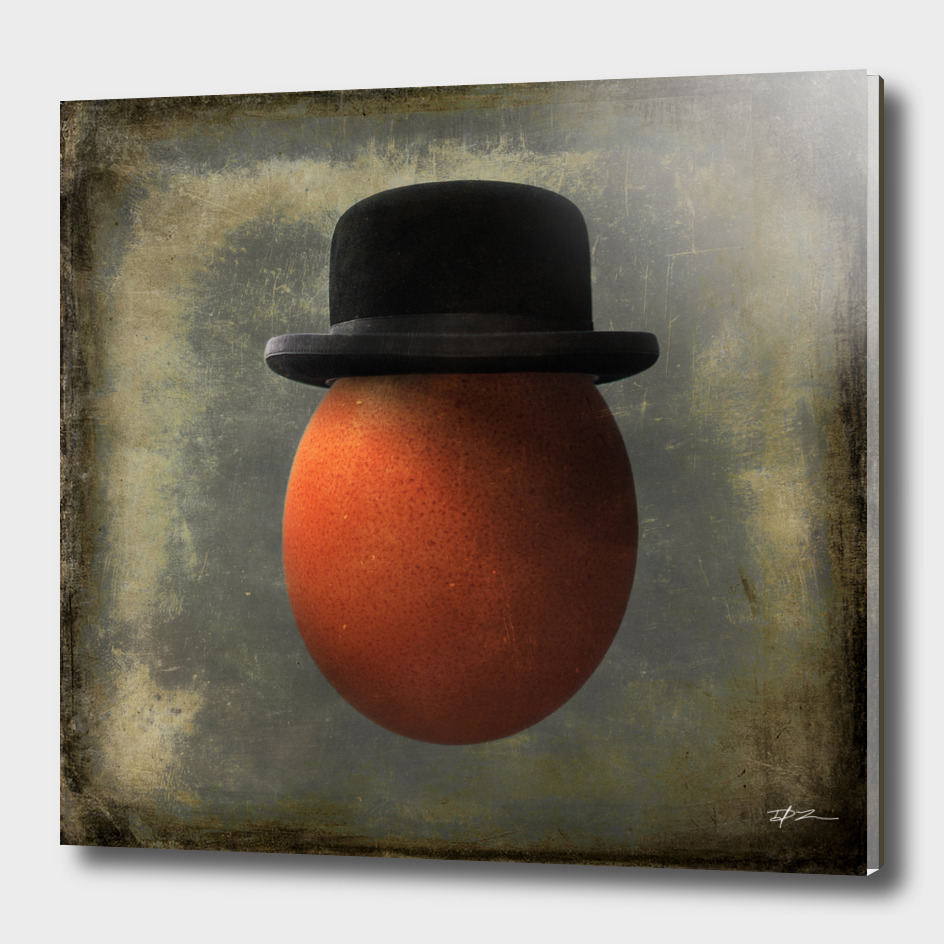 Vintage Egg in Bowler Hat