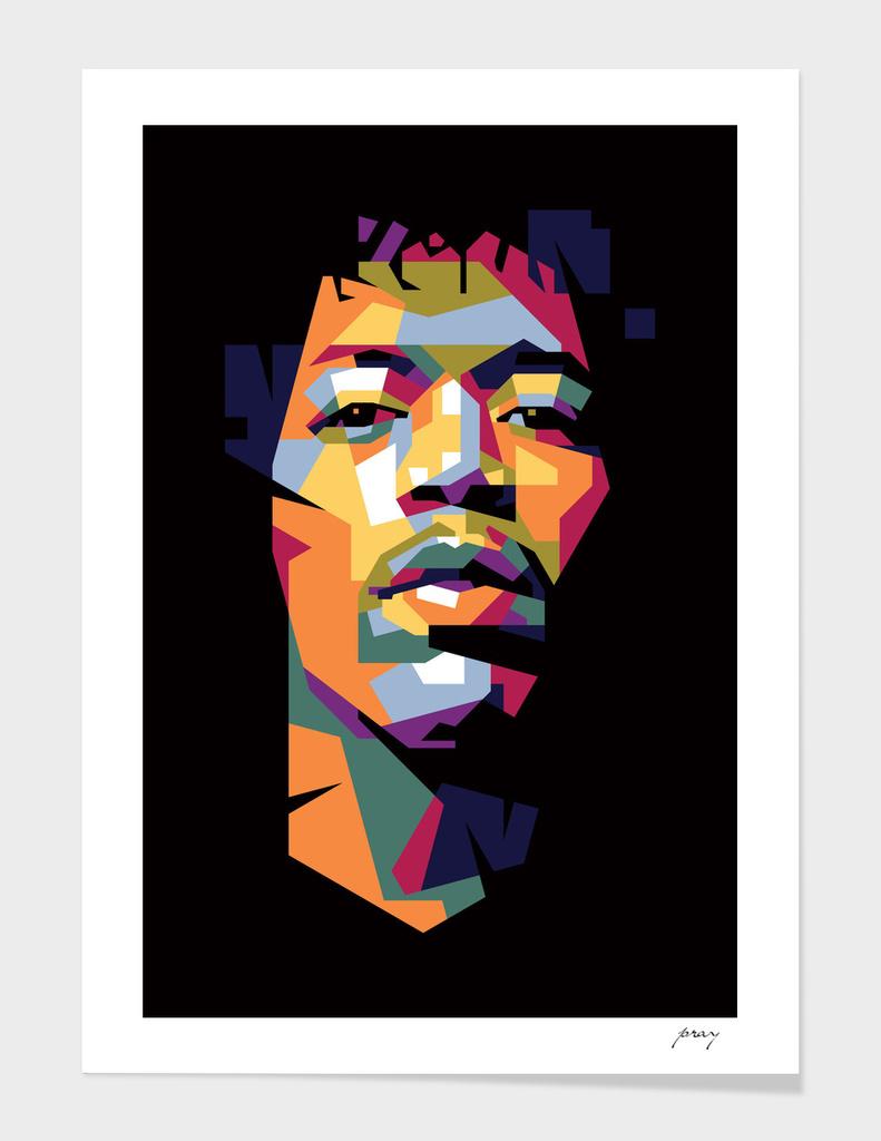 171 Jimi Hendrix In Wpap 187 Art Print By Prayitno Widodo Curioos