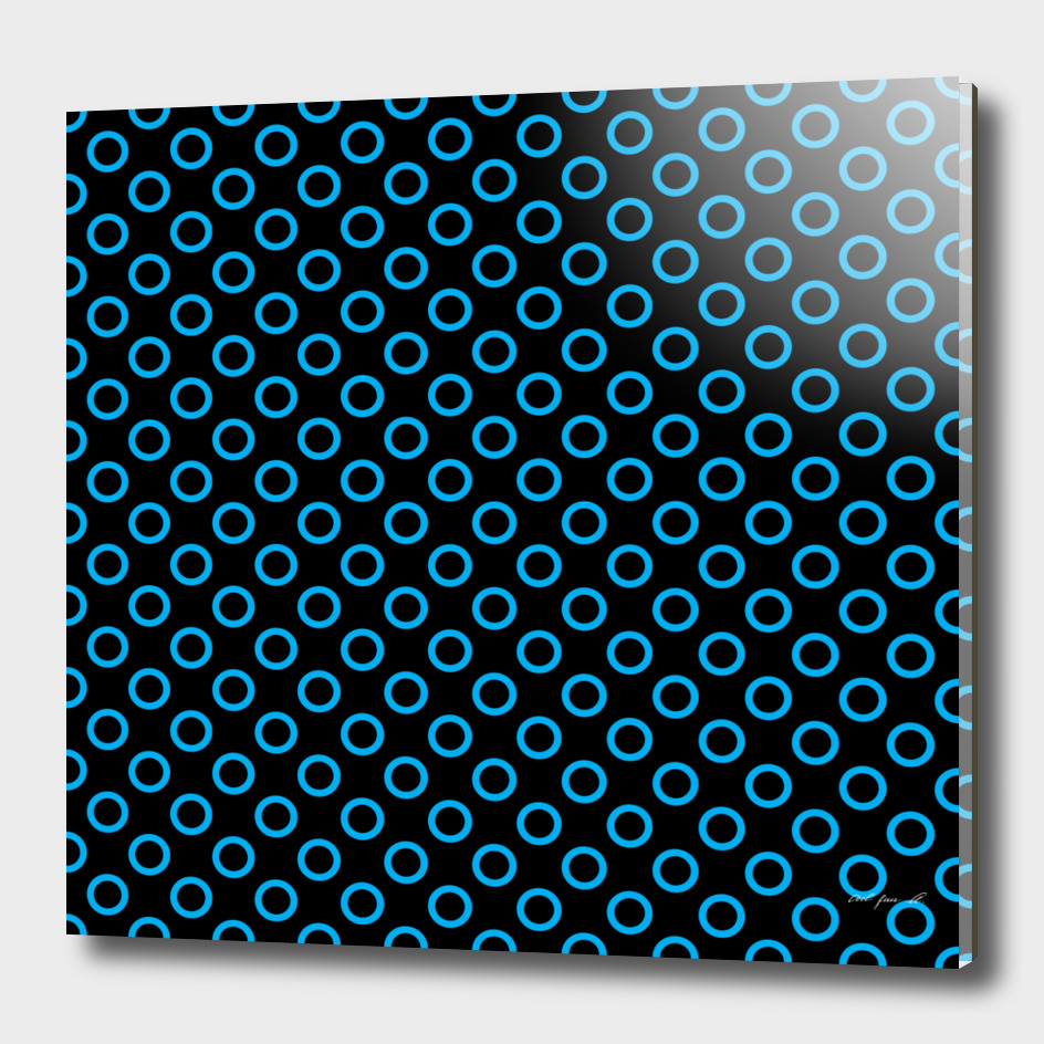 Blue Rings with Black Background
