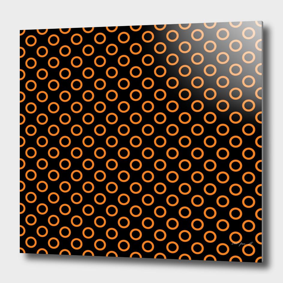 Orange Rings with Black Background