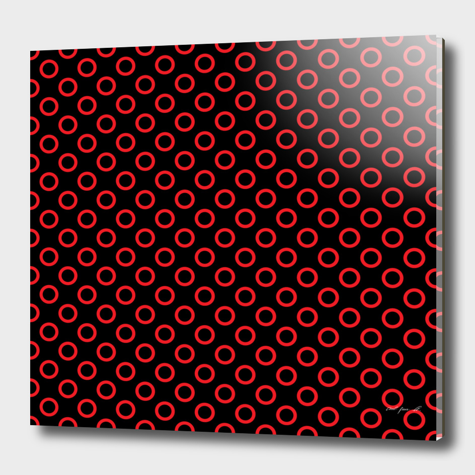 Red Rings with Black Background