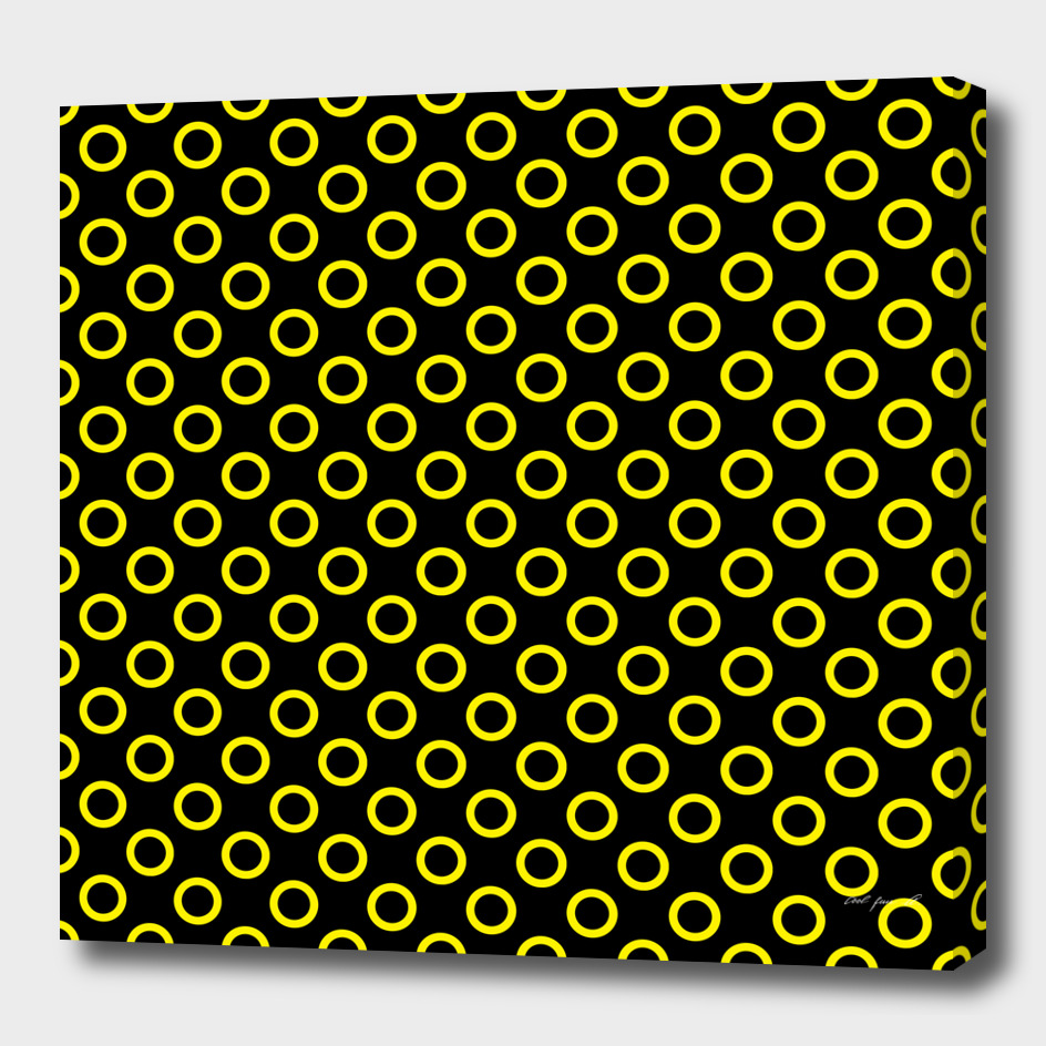 Yellow Rings with Black Background