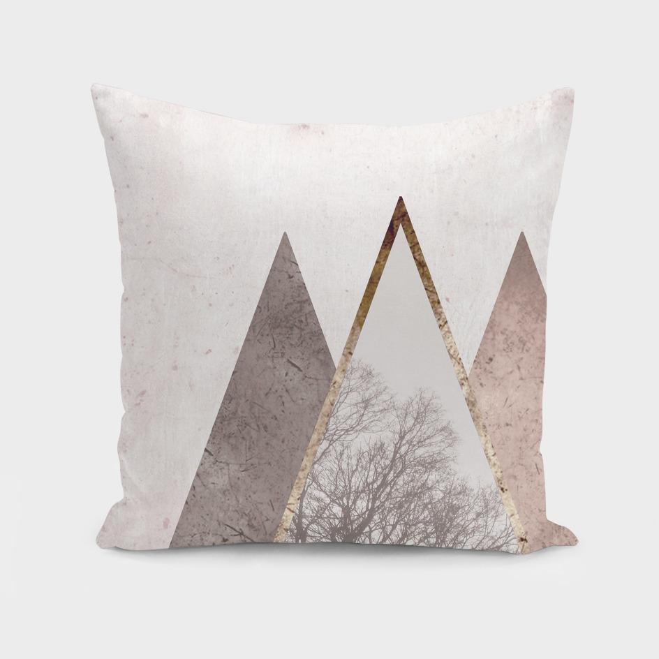 Nordic triangle geometric nature in rose gold