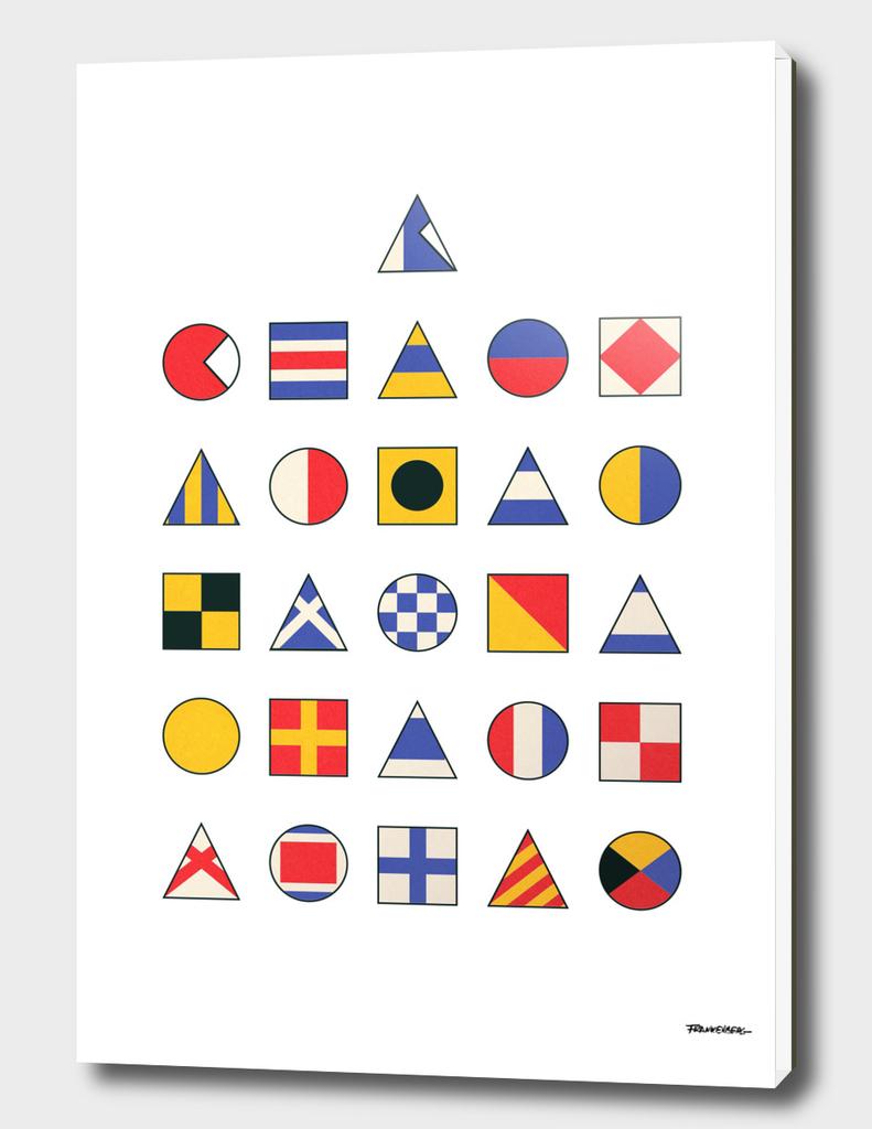 Navy Alphabet Pattern