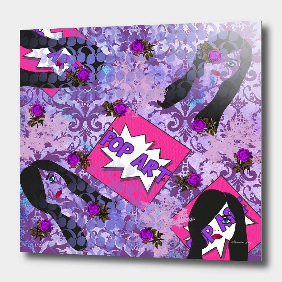 purple retro pop