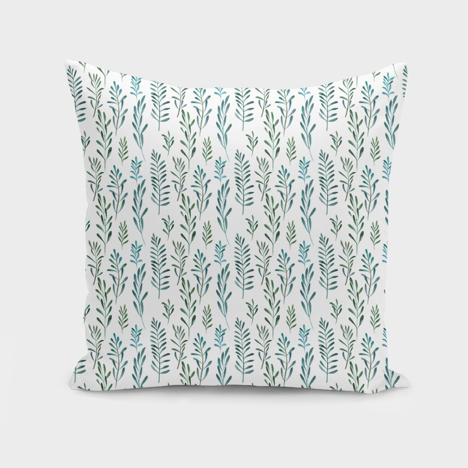 Seamless natural botanical watercolor pattern