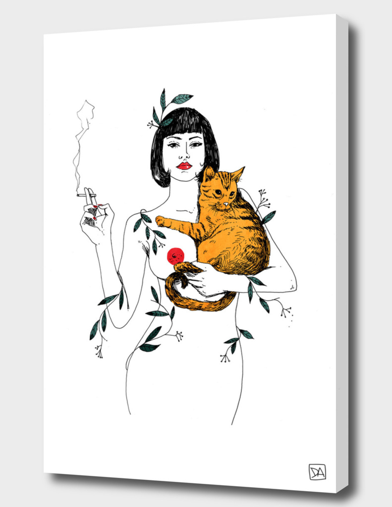 CAT & CIGARETTE