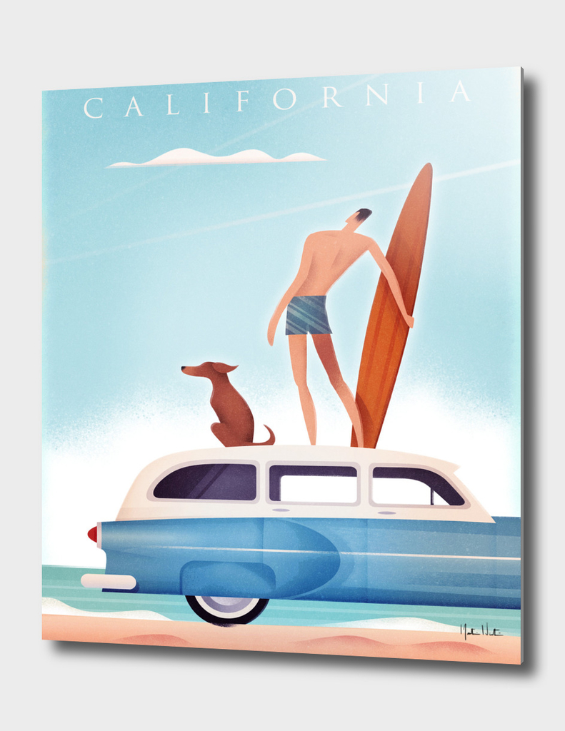 California Vintage Travel Surfing
