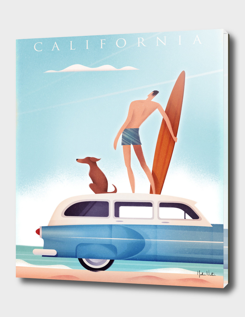 California Vintage Travel Surfing