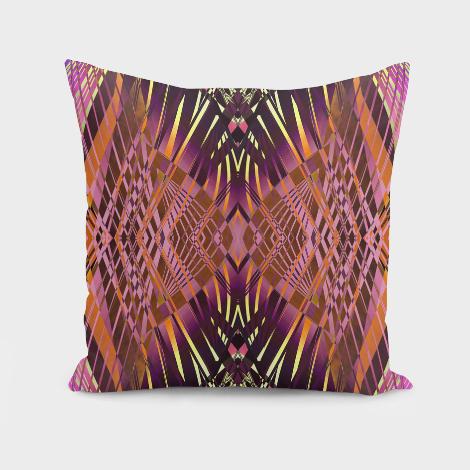 PRETTY VIOLET YELLOW SWEEPING LINE PATTERN