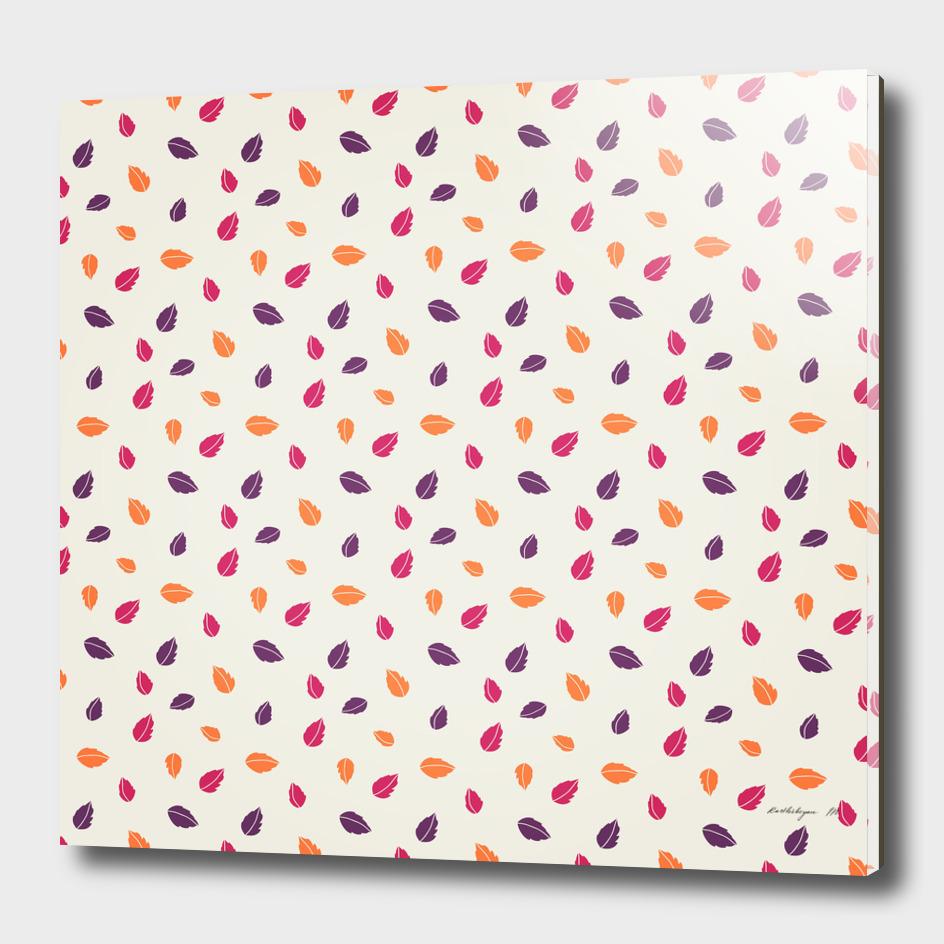 Colorful leaf seamless pattern design