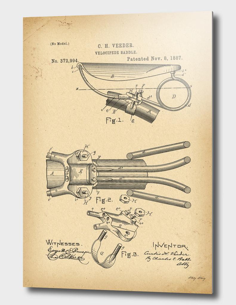 1887 Patent Velocipede saddle