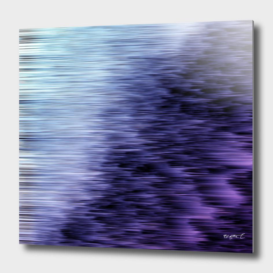 Offshore We Go Purple Glitch Pattern
