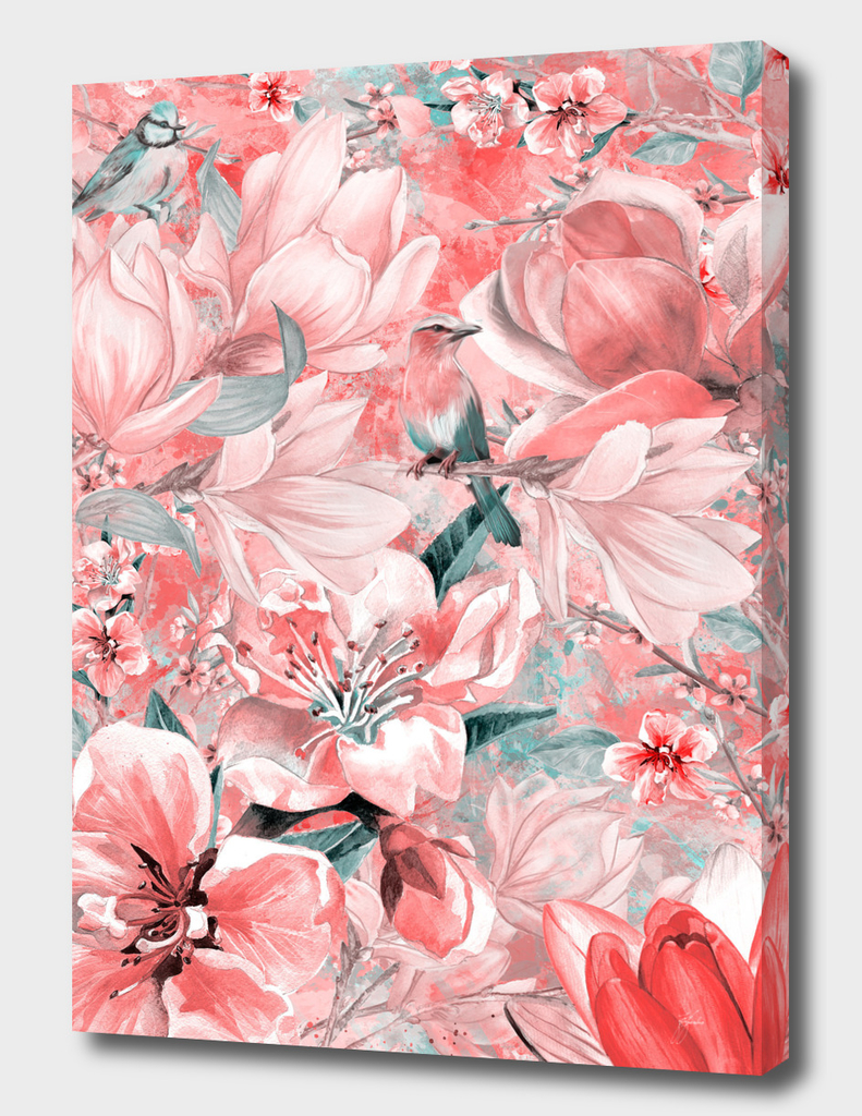 flowers and birds pattern #flowers