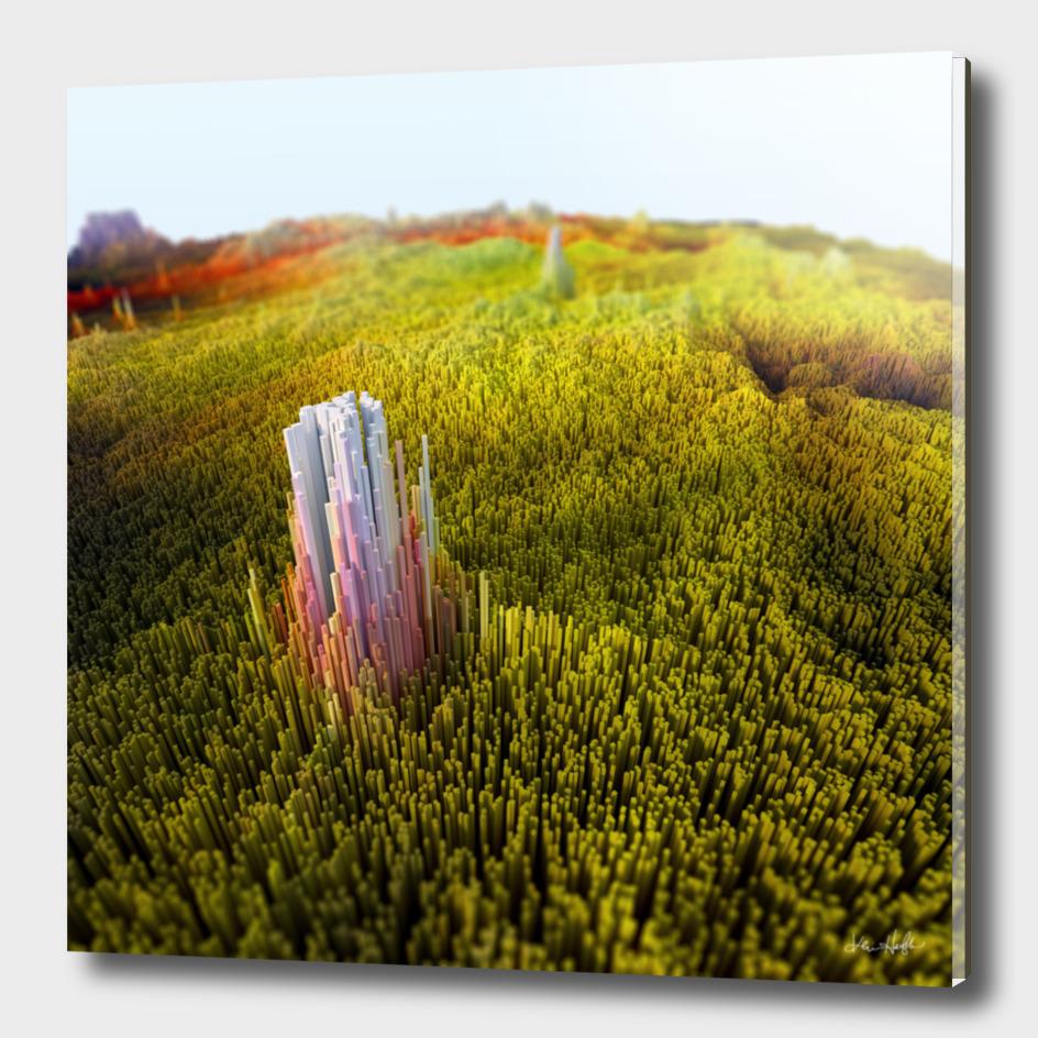 Monolith in green field