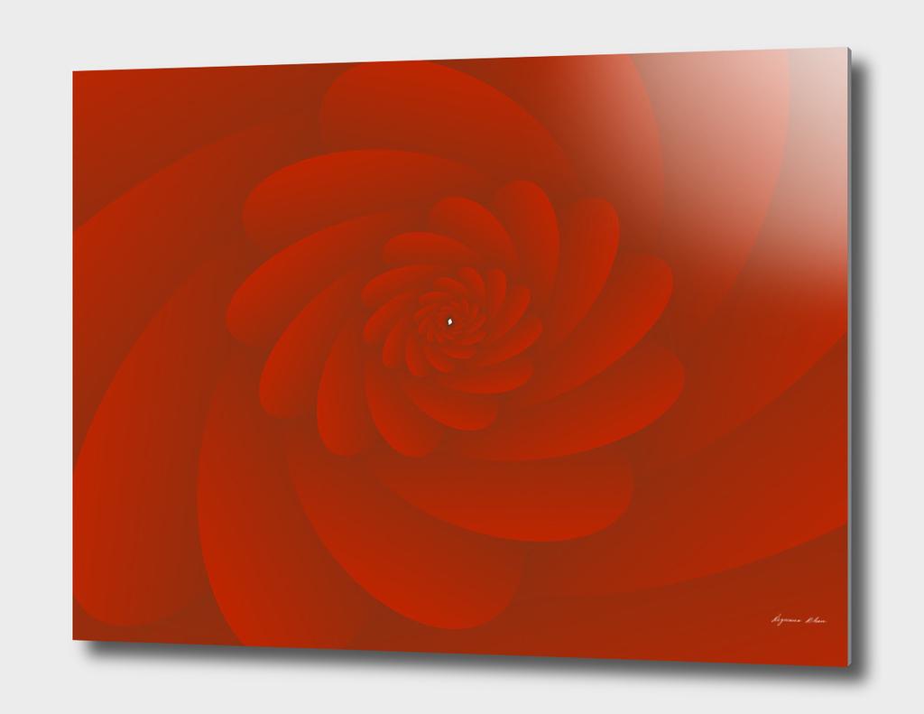 3D RED SPIRAL MODERN FLORAL