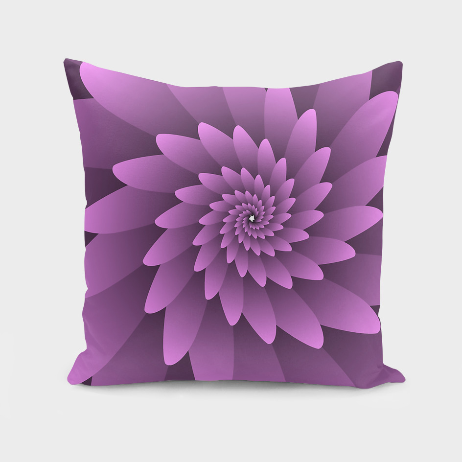 3D PINKY SPIRAL FLORAL