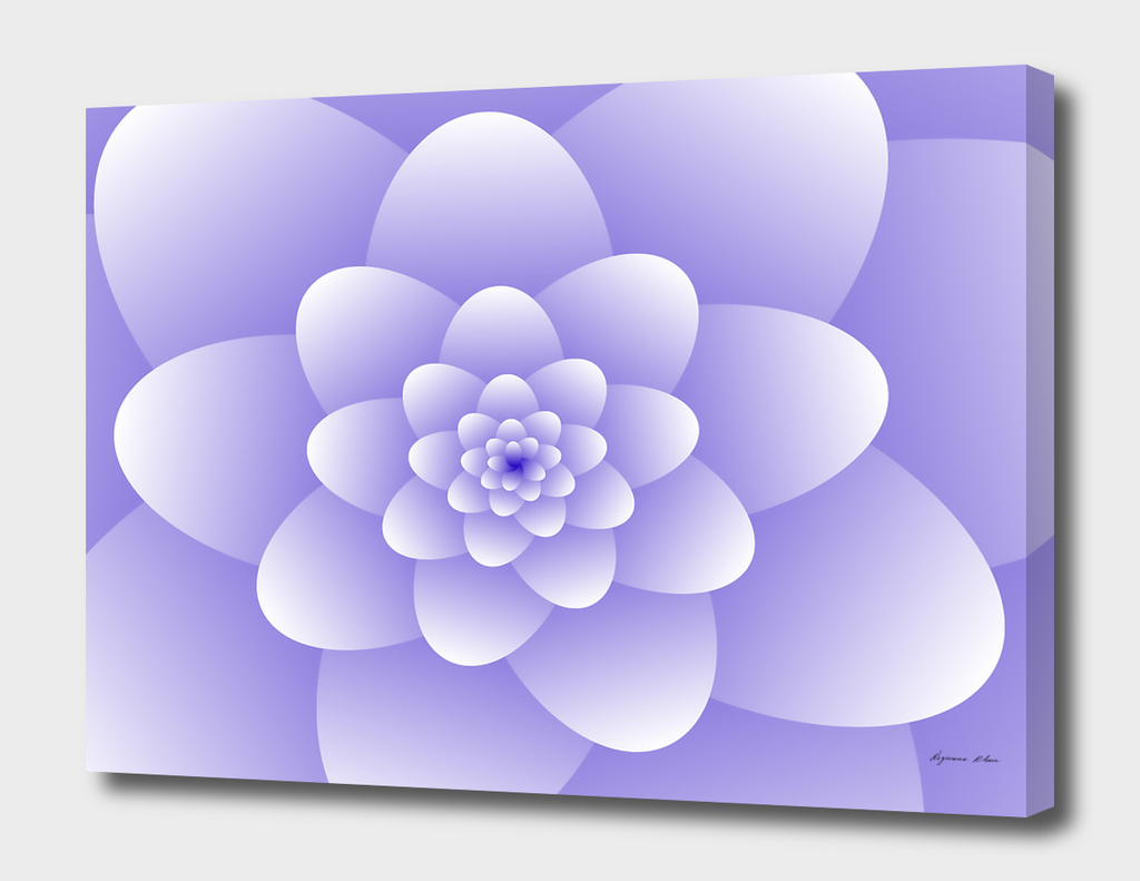 3d Abstract Purple Floral Spiral