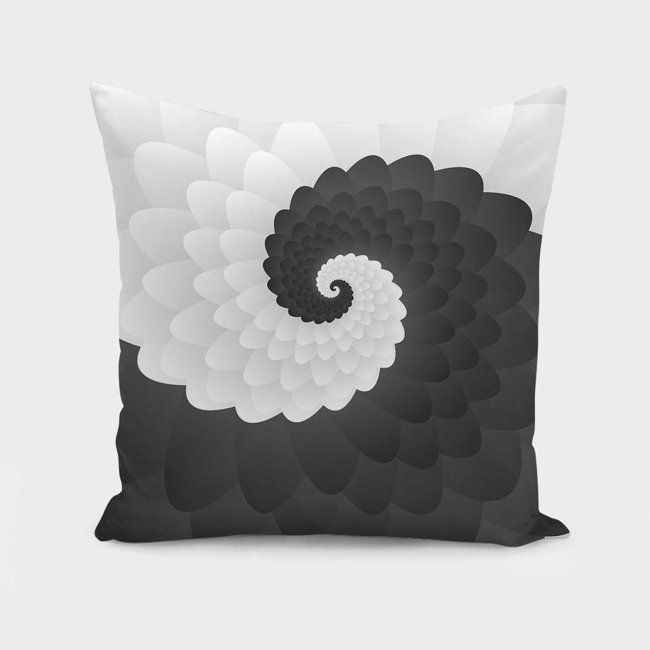 Mono Chrome  Spiral Pattern