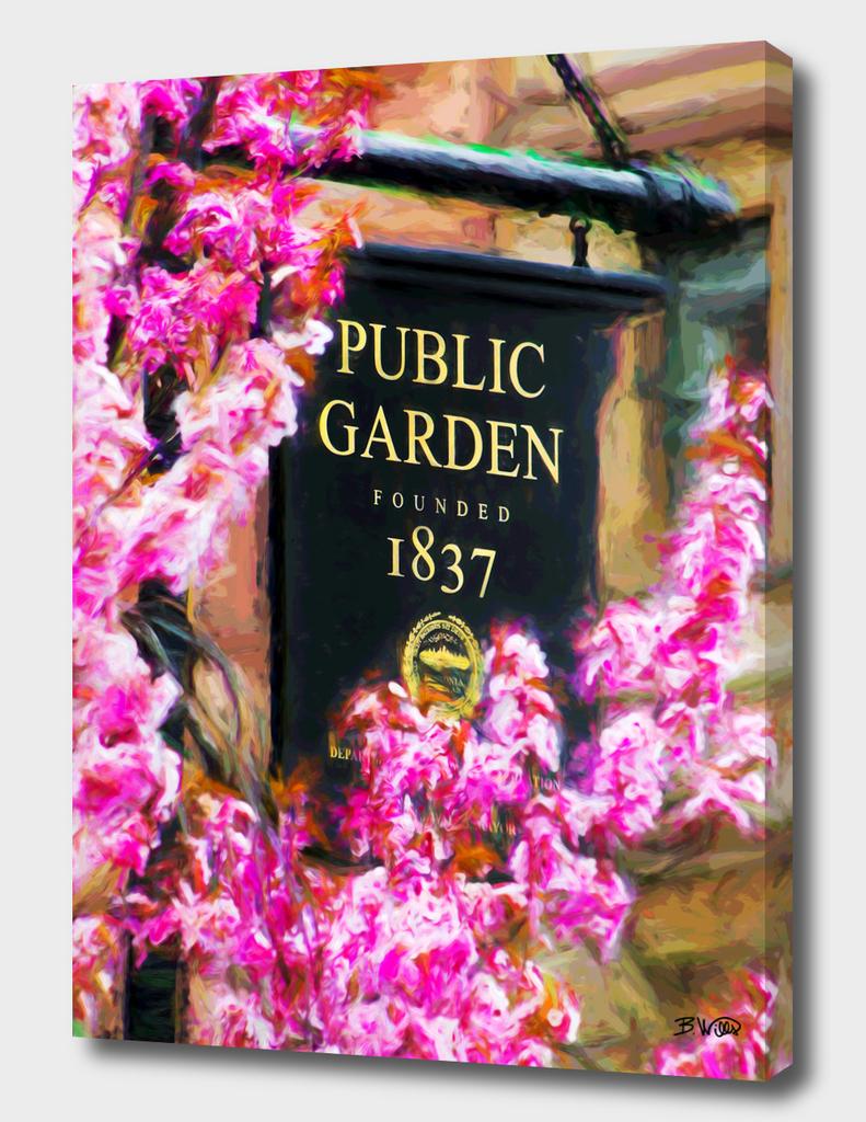 Public Gardens Sign Springtime