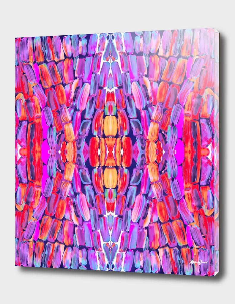 Ultraviolet Purple Sugarcane Pattern