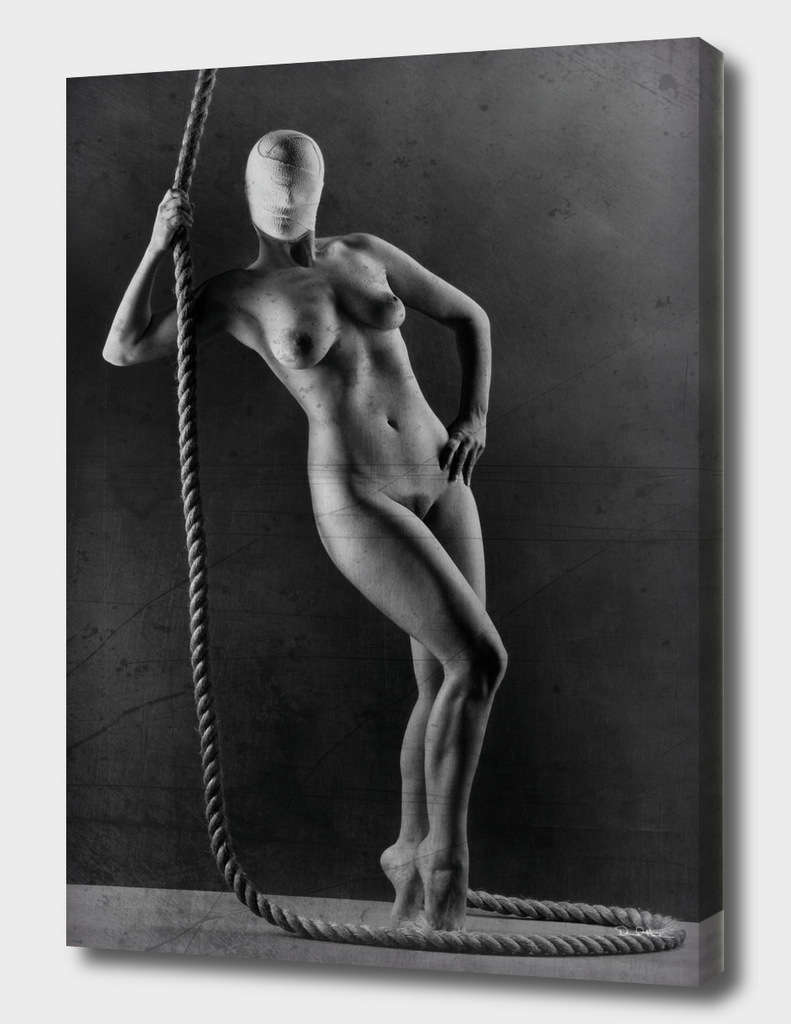 Nude with rope.