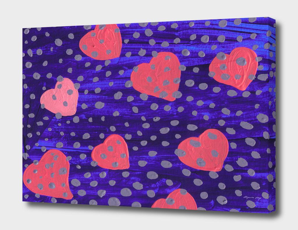 underwater pink hearts