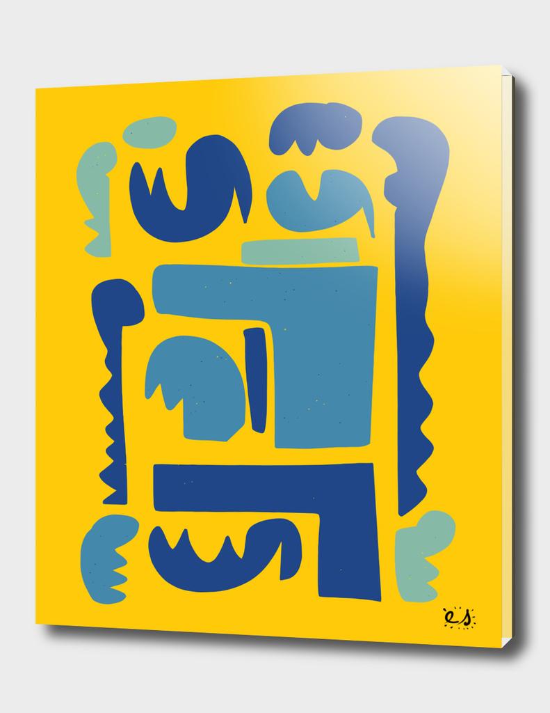 Yellow Oceania Style Culture Art Pop