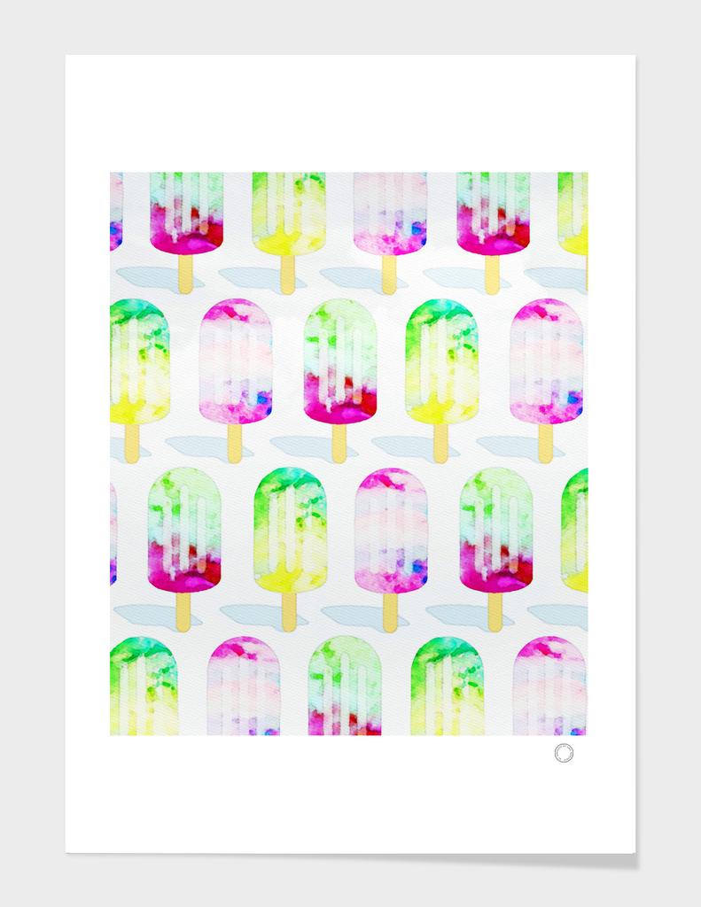 Watercolor Popsicles Pattern