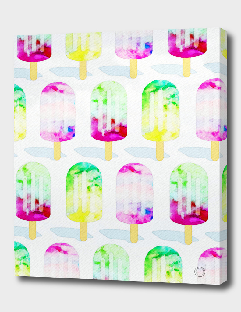 Watercolor Popsicles Pattern