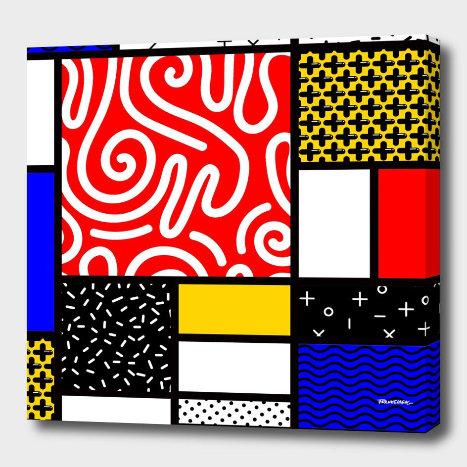 Mondrian in a Memphis Style