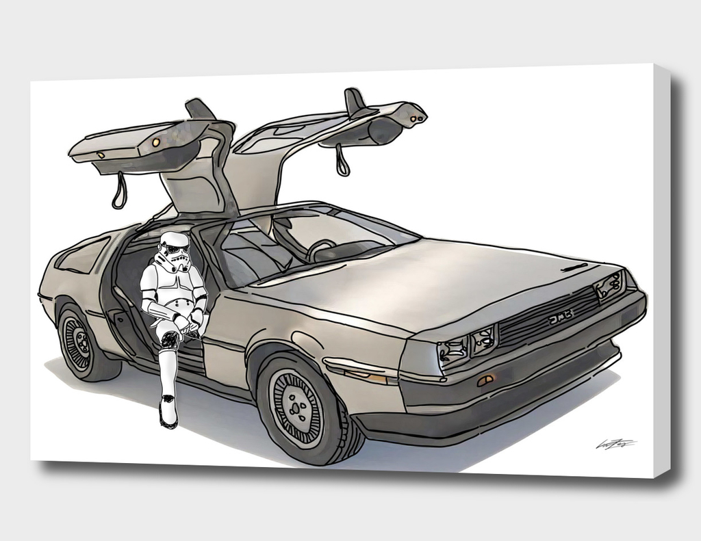 Stormtrooper in a Delorean