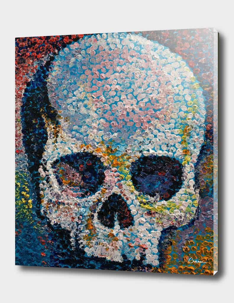 Pointillism Skull