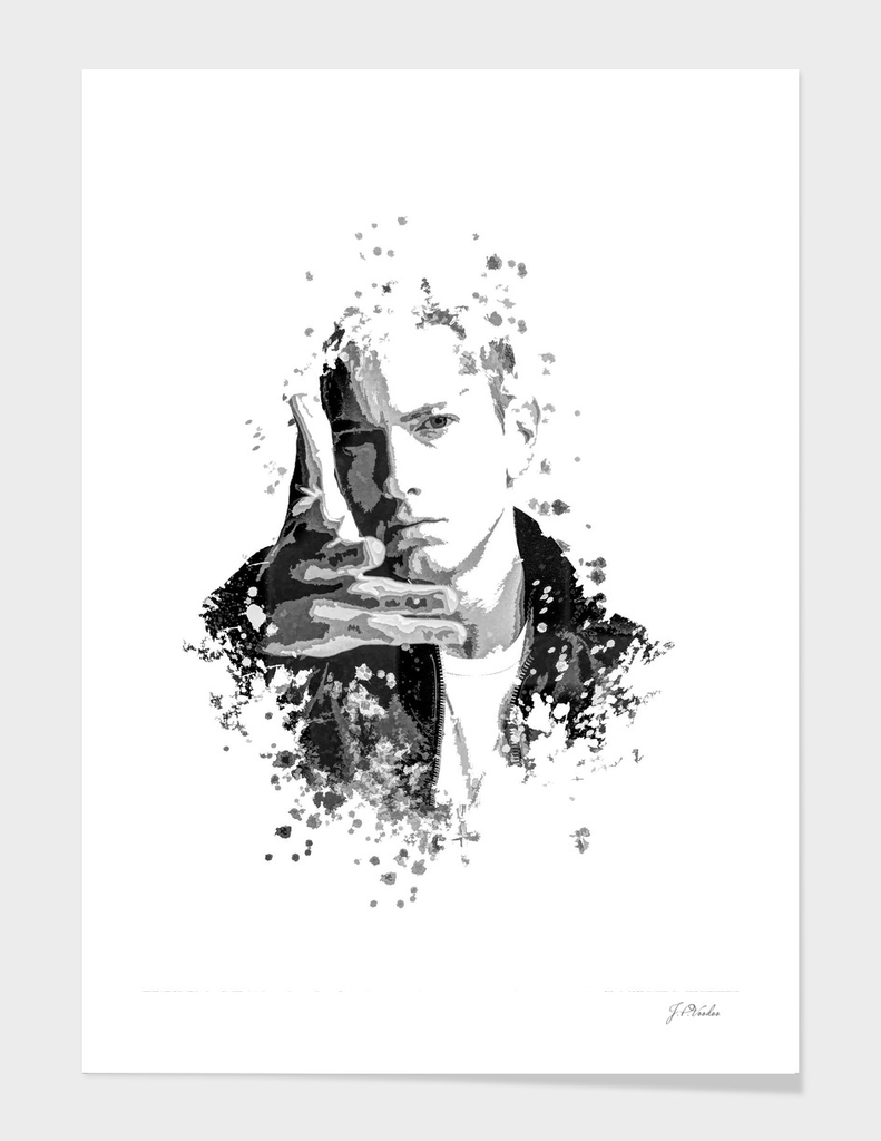 Eminem splatter painting