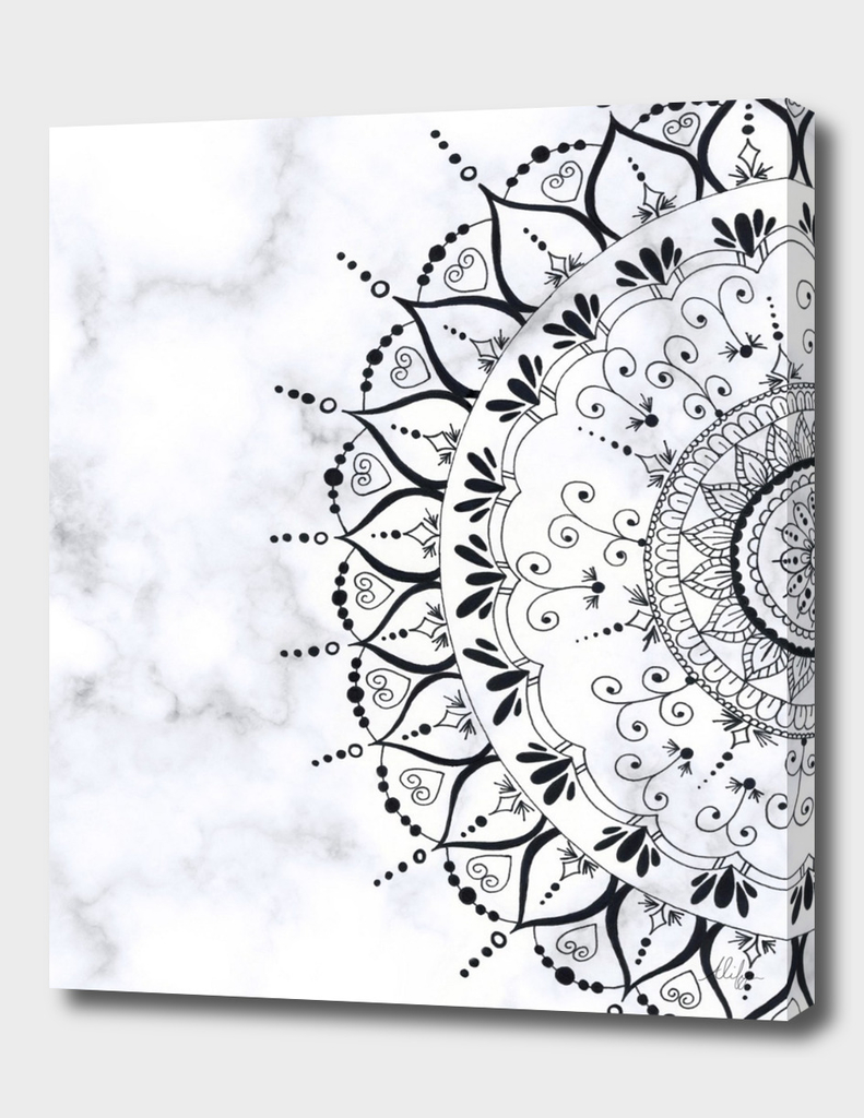 'If You Can't Control it Let it Go' Quote Mandala