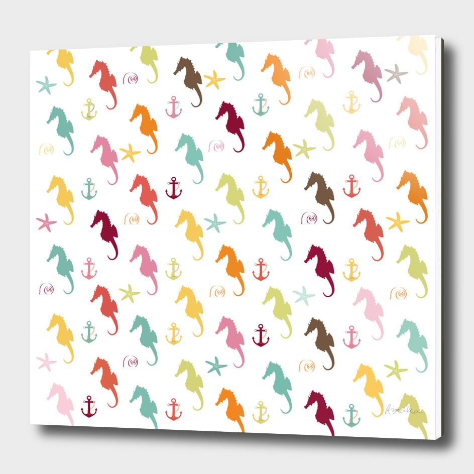 AFE Colorful Seahorse Pattern