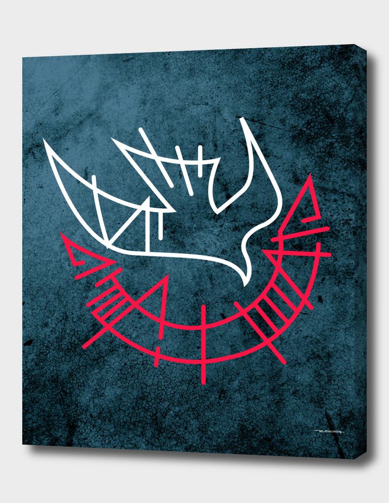 Holy Spirit symbol ink illustration