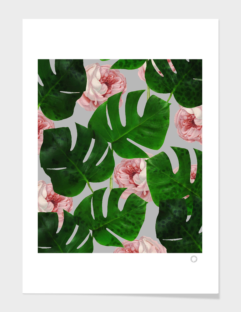 Monstera & Rose Pattern