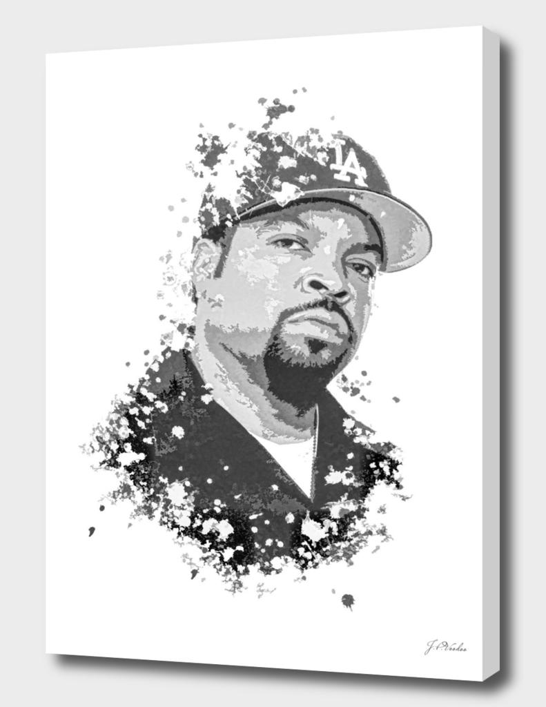 Ice Cube splatter painting