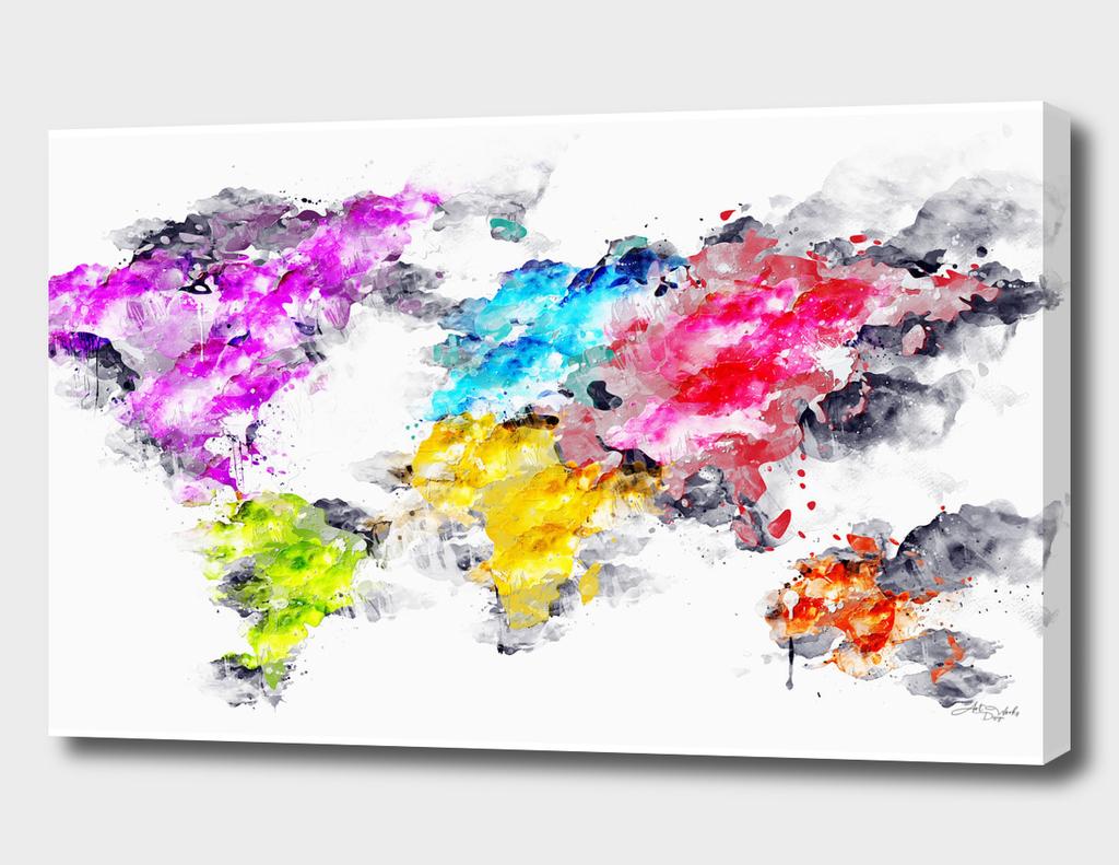 Artistic II  - World Map / NE