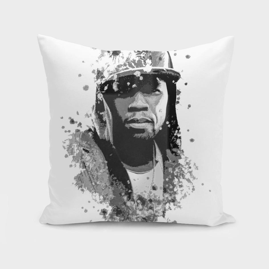 50 Cent splatter painting