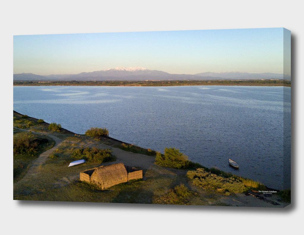 Cabanes de Pêcheurs sur l'étang de Canet