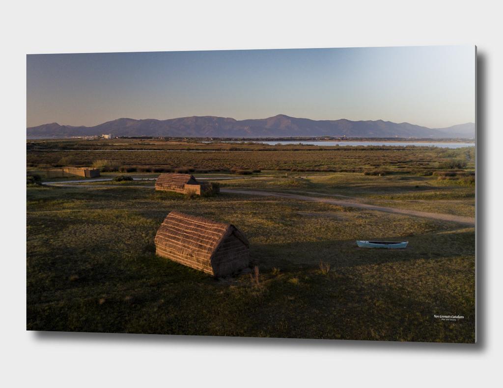 Village des Pêcheurs sur l'étang de Canet