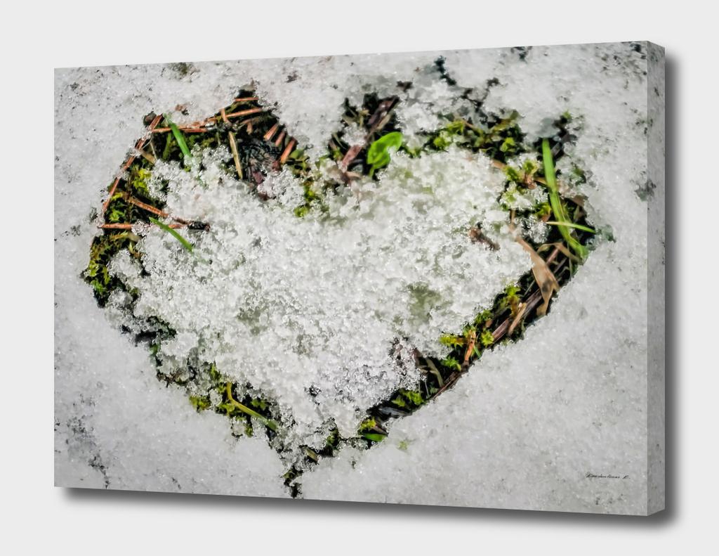 Snow shaped heart