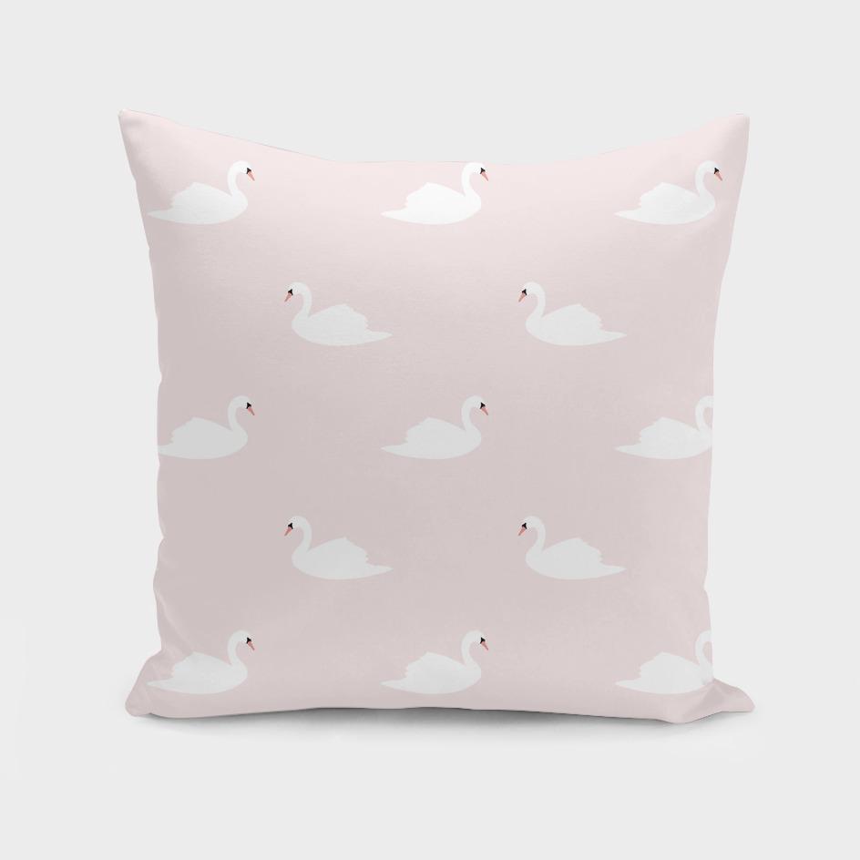Swan pattern on pink 033