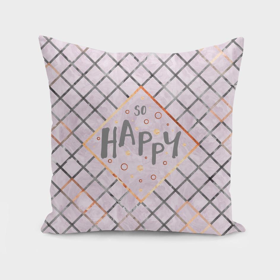 Text Art SO HAPPY | rosegold