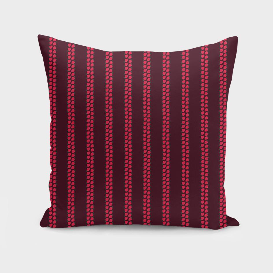Strawberry Stripes Pattern - StripesV/BURGUNDY